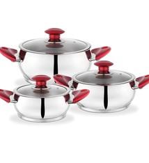 Nova Deep Pot Set 3pcs - Red