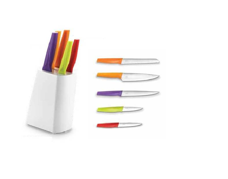 Solid knifer set 6pc white