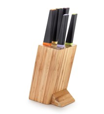 Solid Knife Set 6pc Wood and  Colourful Tops