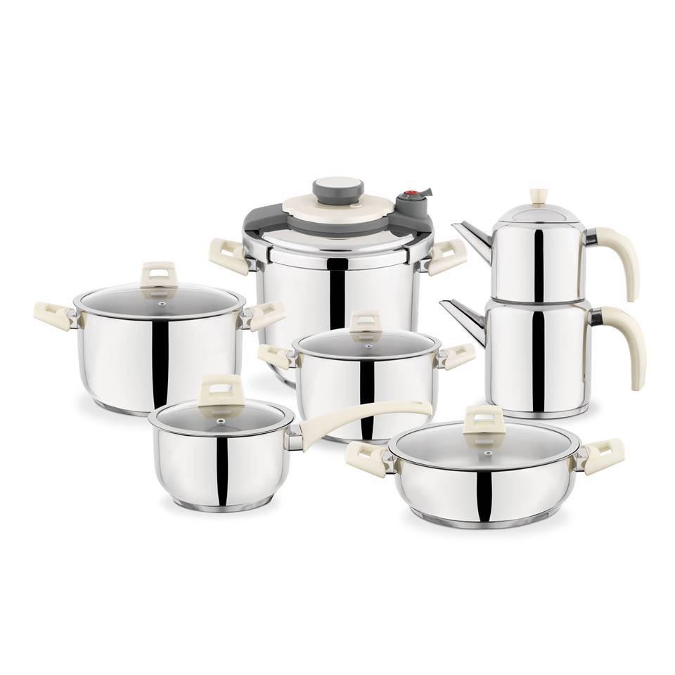 Kitchen Chef Marriage set 14pc White