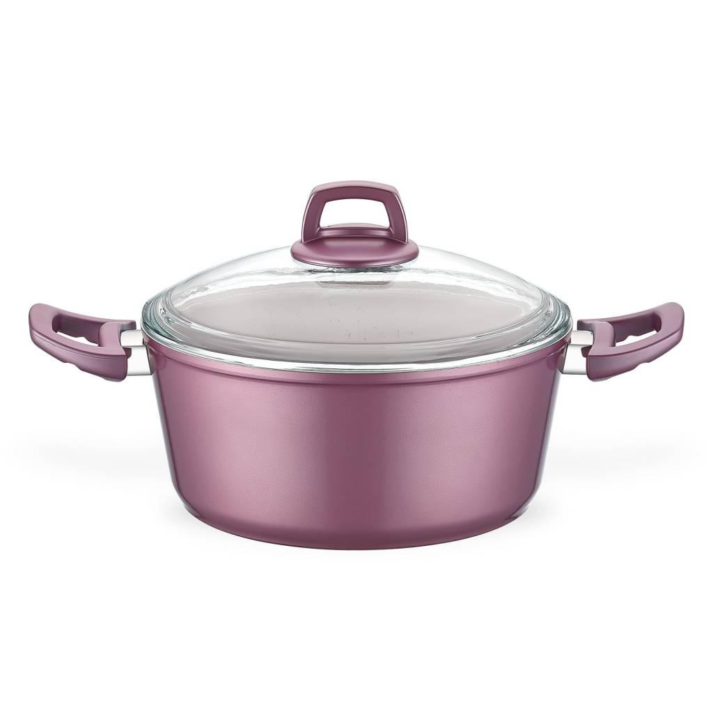 Eco Granit 28cm Deep Pot Pink