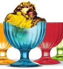 Clasica Alaska Ice-Cream Coloured Cup 6pcs 270ml