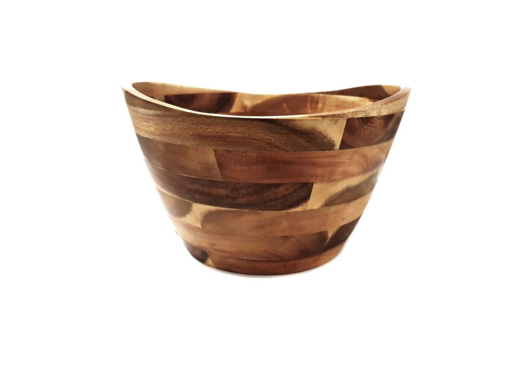 Classica Acacia Wooden Salad Bowl Small