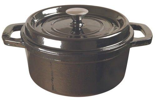 Clasica Round Cast Iron Casserole Black 3.5L 24cm