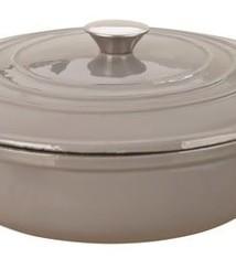 Clasica Round Cast Iron Braiser Grey 4.5L 30cm
