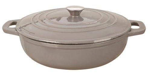 Clasica Round Cast Iron Braiser Grey 4.5L 30cm