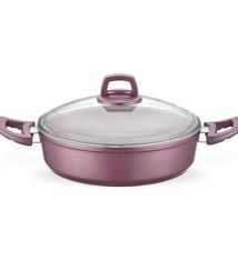 Eco Granit 24cm Shallow Pot - Pink