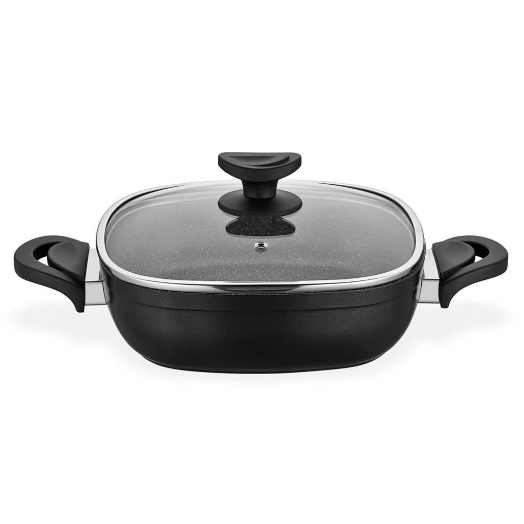 Gastronomie Granit Shallow Pot 26cm Black