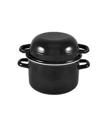 Enamel Mussel Pot 1.5L Black