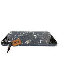 Classica Black Rectangular Marble Cheese Board