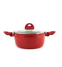 Bialetti Bialetti Rubino Stone Cassorole Pot w/ Lid Red