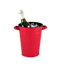 Urban Style Enamel 1L Bucket w Handles - Red