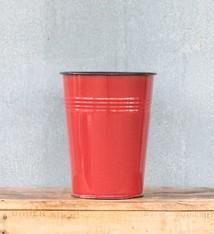 Urban Style Enamel Dutch Vase 30cm - Red