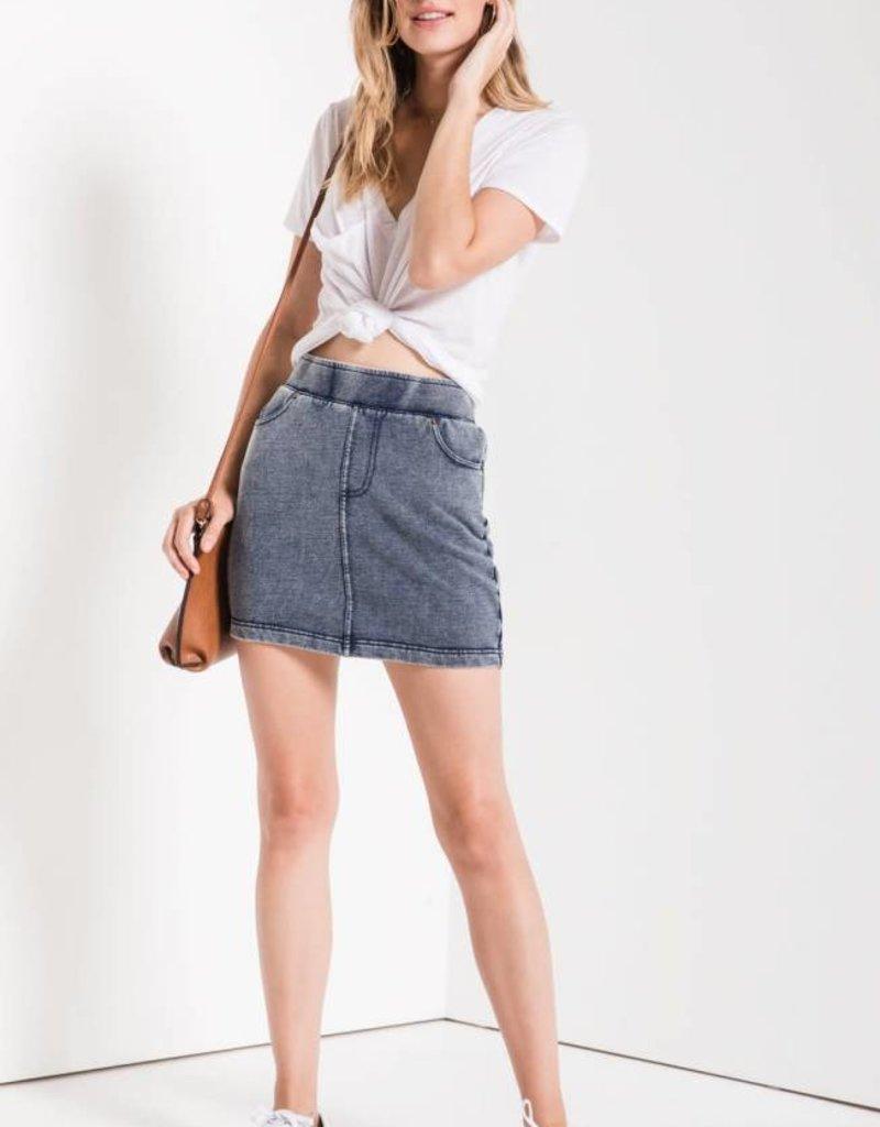 Z Supply The Knit Denim Skirt