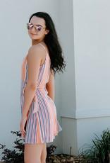 Peach/Multi Stripe Woven Dress