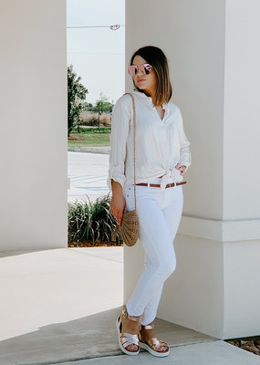 Articles of Society Suzy-Porus White Denim