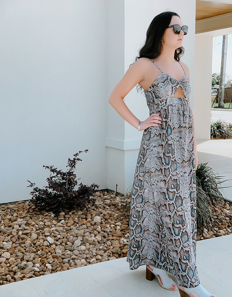 Snake Skin Maxi Cut Out