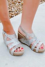 Very Volatile Cait Multi Strap Wedge Sandal