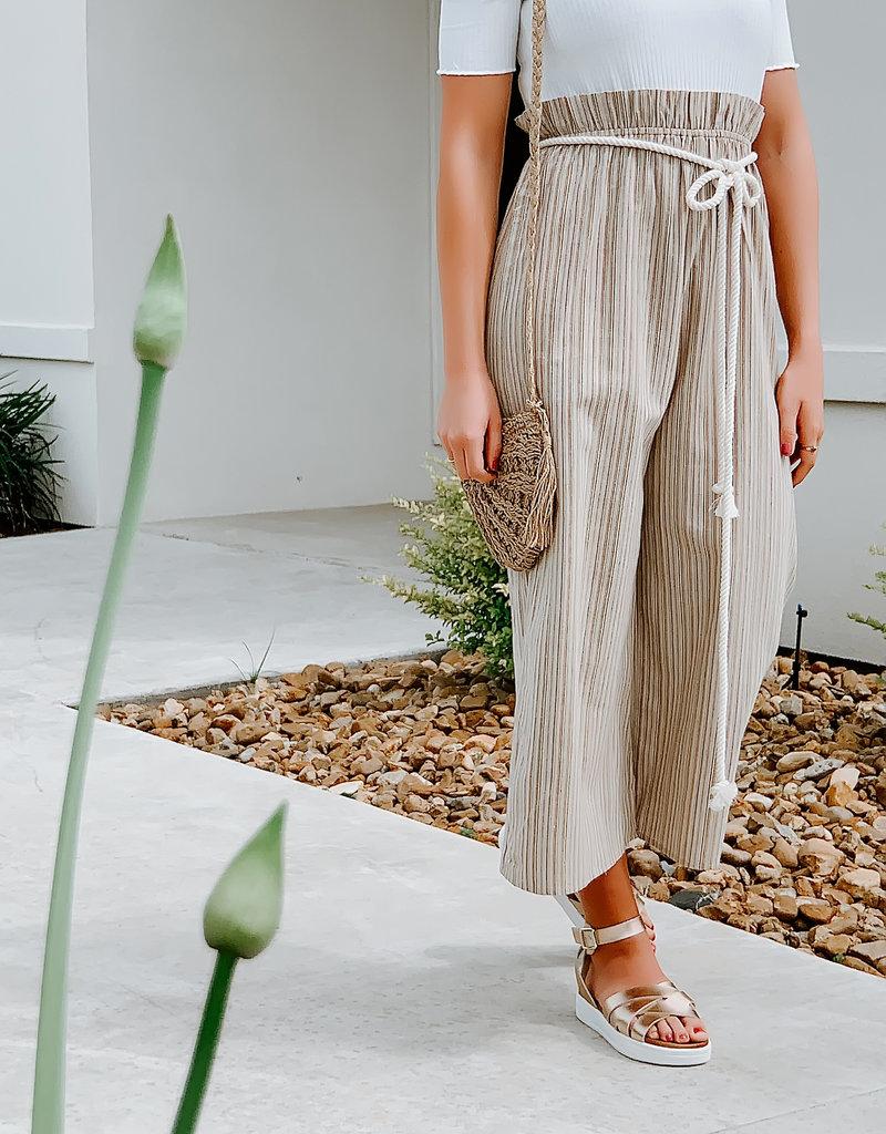 Vintage Havan Multi Stripe Off Shoulder Jumpsuit