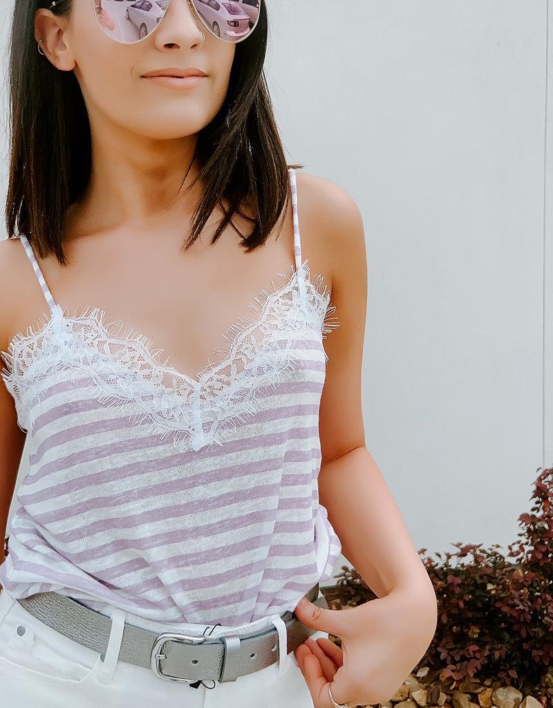 Dex Dex-Lilac Stripe Cami