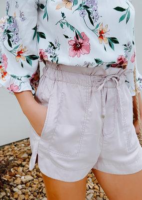 Dex Dex-Pale Lilac Self Tie Shorts