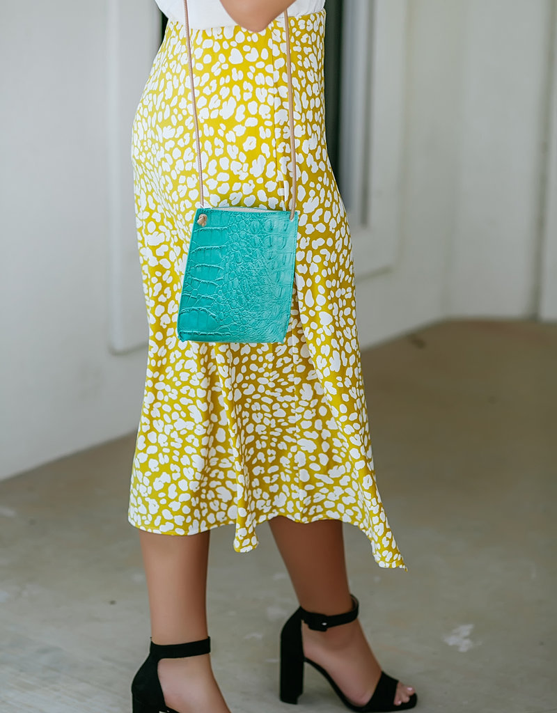 Mustard Leopard Print Skirt