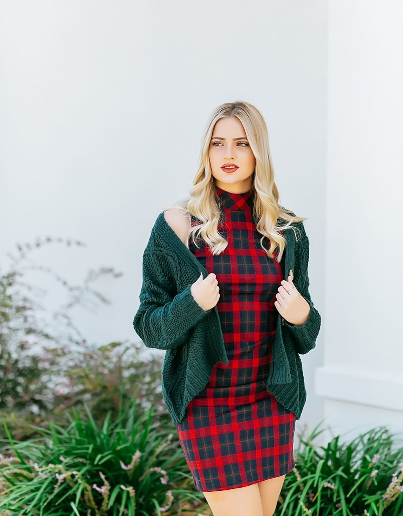 RD USA International Red Plaid Dress
