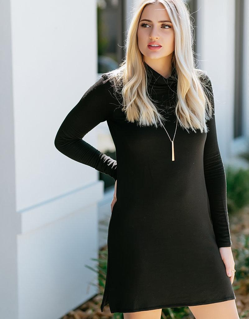 Z Supply Premium Fleece Turtle Neck Dress