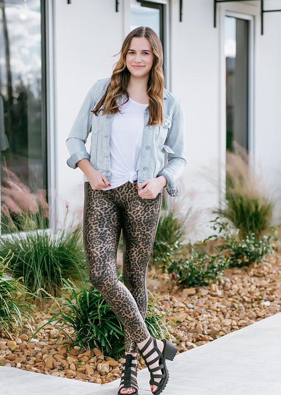 Metallic Leopard Legging