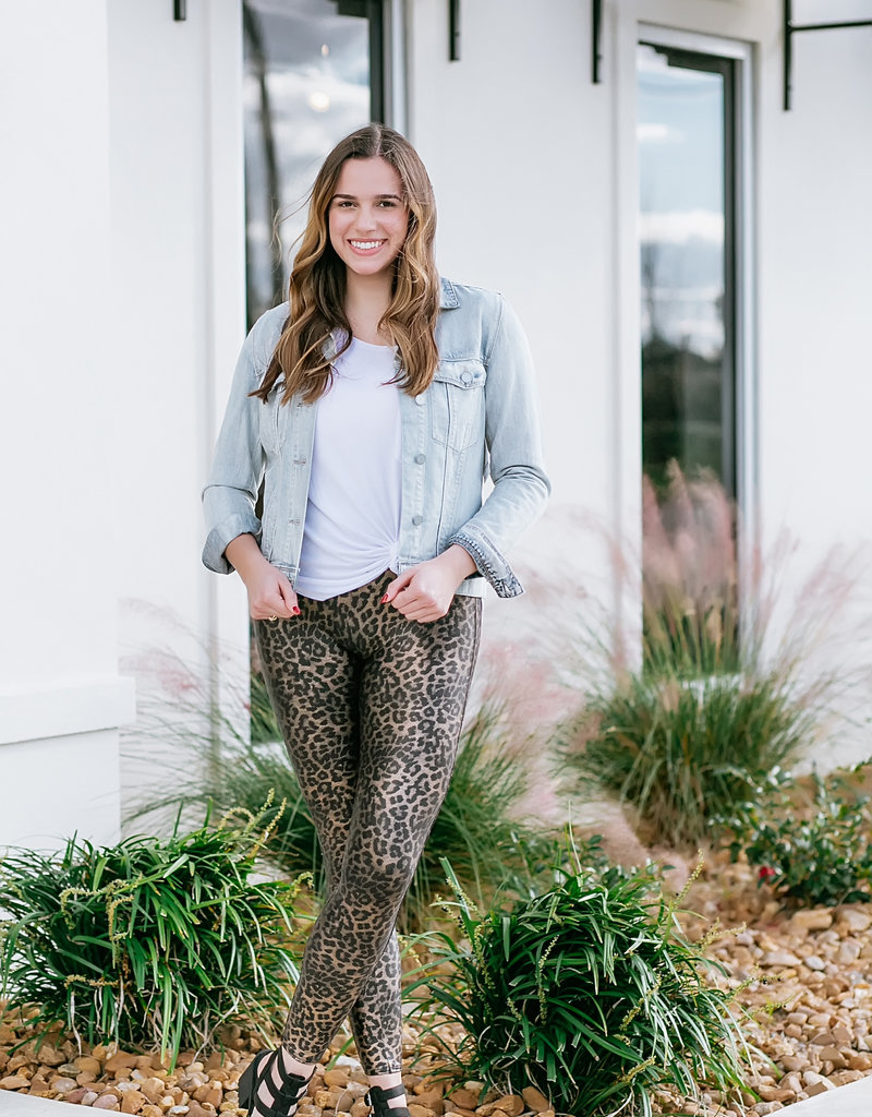 Metallic Leopard Legging