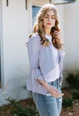 Strut & Bolt Lavender Grey Fallaway Collar Jacket