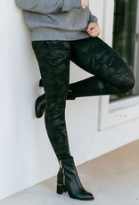 Faux Leather Camo Legging