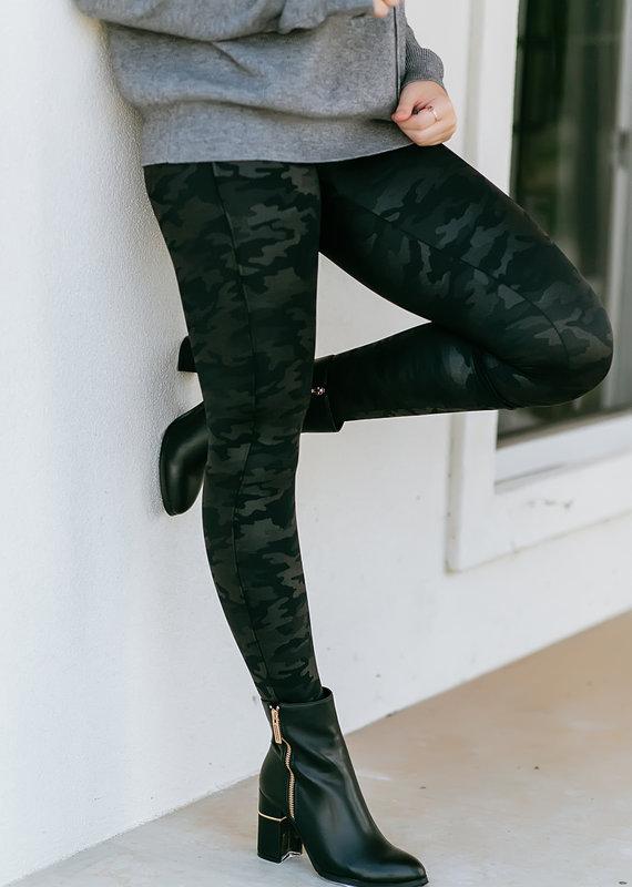 Faux Leather Camo Legging