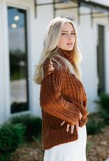 RD USA International Rust Knit Turtleneck Sweater