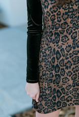 Leopard Corduroy dress