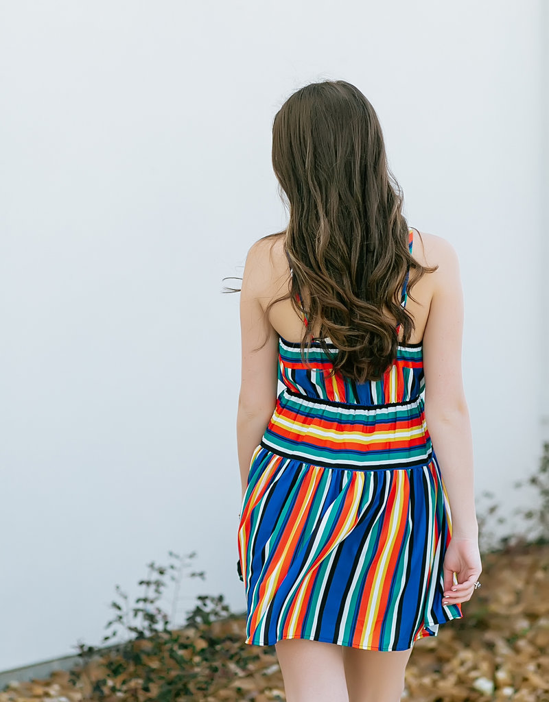Halter Mutli Stripe Dress