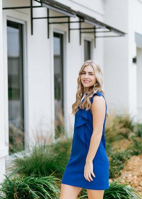 TCEC Royal Blue sleeveless/ruffle