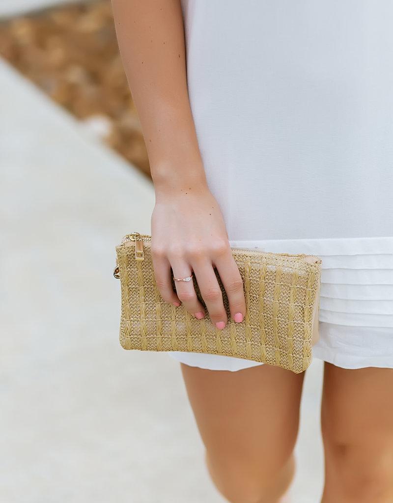 Pinch White Pleated Hem Dress