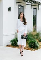 BTFL LIFE Ann White Jacquard Skirt