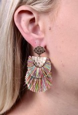 Gabby Double Drop Fringe Post Earring Multi