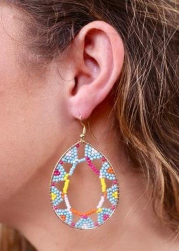 Proctor Beaded Cutout Earring Multi
