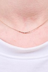Romy Delicate Necklace With Cz Gold
