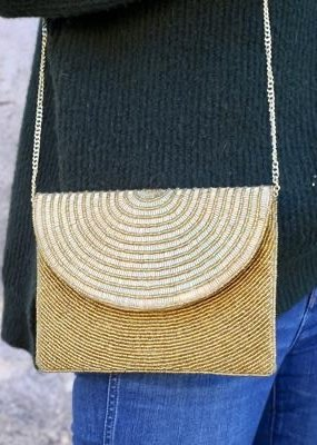 Goldie Beaded Crossbody Gold