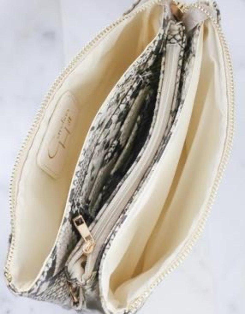 Liz Custom Collection Crossbody Bag Snake Beige Hologram