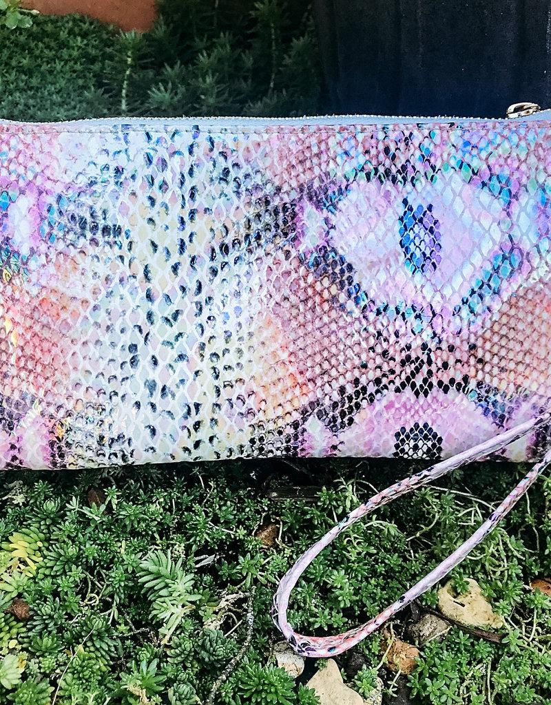 Liz Custom Collection Crossbody Bag Snake Pink Hologram