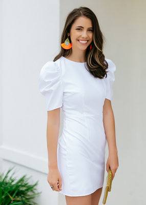 TCEC White Puff Sleeve Dress