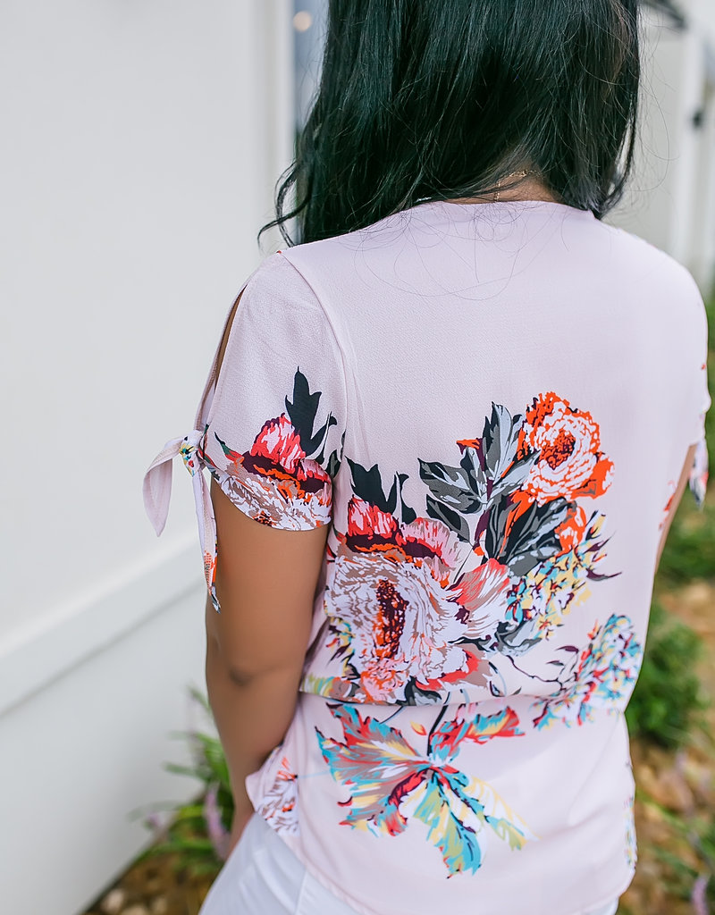 Shewin Inc Apricot Floral Blouse