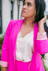 SKIES ARE BLUE Ultra Pink Blazer