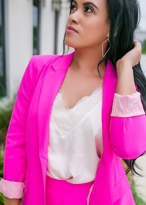 SKIES ARE BLUE Ultra Pink Blazer