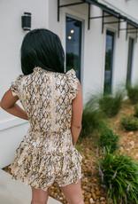 TCEC Gold/Black Snake Skin Dress